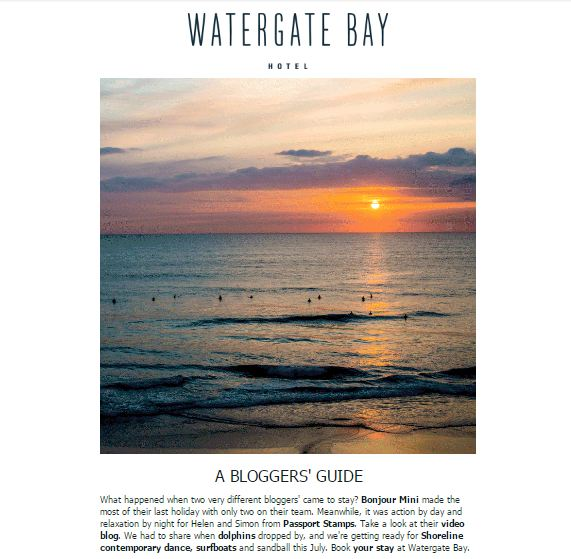 Watergate Bay Newsletter